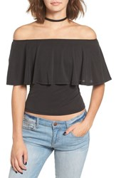 Sun And Shadow Women's Off The Shoulder Knit Top