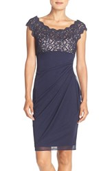 Xscape Evenings Women's Lace And Chiffon Sheath Dress