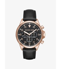 Gage Rose Gold Tone And Leather Watch