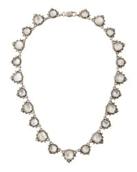 Konstantino Aura Silver And Mother Of Pearl Cushion Necklace White