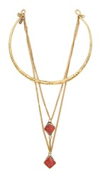 Vanessa Mooney The Runaways Choker Necklace Gold Coral