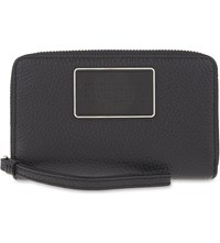 Marc By Marc Jacobs Wingman Leather Zip Around Wristlet Wallet Black