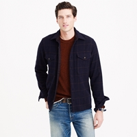 J.Crew Wallace And Barnes Overshirt In Windowpane English Wool