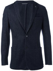 Michael Kors Button Front Blazer Blue