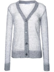 Alexander Wang T By Sheer Knit Cardigan Grey
