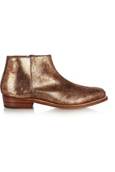 Grenson Becky Metallic Lizard Effect Leather Ankle Boots