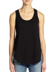 Wilt Cotton Racerback Tank Top Black