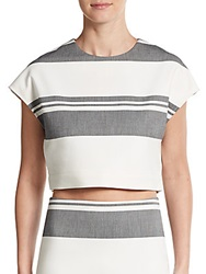 Elizabeth And James Striped Dolman Crop Top