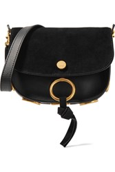 Chloe Kurtis Small Suede And Leather Shoulder Bag Black