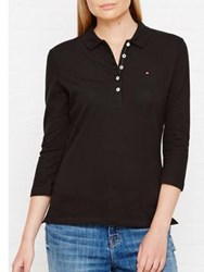 Tommy Hilfiger Chiara 3 4 Sleeve Polo Shirt Black