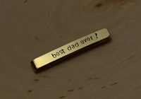 14K Gold Tie Bar For You To Personalize By Nicilaskin On Etsy