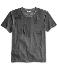 William Rast Men's Graphic Print T Shirt Grey