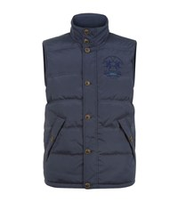 La Martina Microfibre Padded Gilet Male Navy