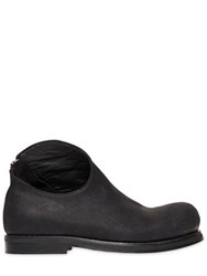 Goran Horal Zip Up Waxed Leather Ankle Boots