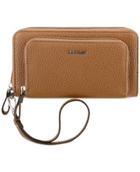 Nine West Table Treasures Double Zip Wristlet Tobacco