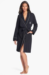 Women's Lauren Ralph Lauren Quilted Collar Robe Black