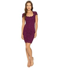Rsvp Peak Cap Sleeve Short Lace Dress Raisin Women's Dress Brown