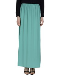 Space Style Concept Skirts Long Skirts Women Emerald Green