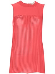 Michael Michael Kors Pleated Tank Top Pink And Purple
