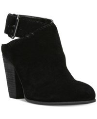 Carlos By Carlos Santana Hawthorn Buckle Block Heel Booties Women's Shoes Black