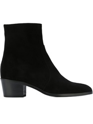 Jean Michel Cazabat Pointed Toe Ankle Boots Black