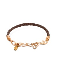 Sho London Mari Fiendship Leather And Rose Gold Bangle