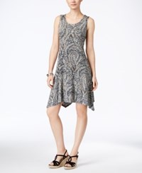 Styleandco. Style Co. Petite Printed Crochet Back Dress Only At Macy's Rust Combo