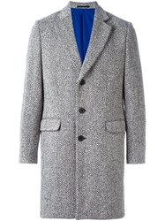 Etudes Studio Herringbone Car Coat Grey