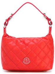 Moncler Small Quilted Tote Red
