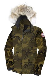 Women's Canada Goose 'Chelsea' Slim Fit Down Parka With Genuine Coyote Fur Trim Classic Camo