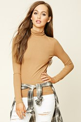 Forever 21 Ribbed Knit Turtleneck Top