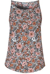 Alice And You Printed Sleeveless Top Peach