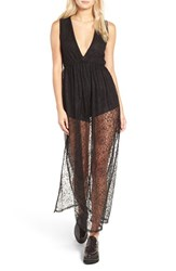 Leith Women's Lace Bodysuit Dress