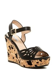 Elegant Footwear Daniella Wedge Sandal Black