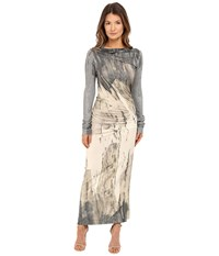 Vivienne Westwood Long Sleeve Maxi Taxa Dress Natural Women's Dress Beige