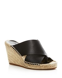 Vince Suraya Espadrille Wedge Mule Sandals Black