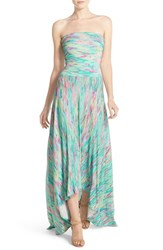 Women's Felicity And Coco Strapless Neon Print Maxi Dress Ibiza Ikat