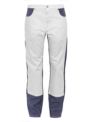 See By Chloe Pinstripe Panel Cotton Blend Jeans