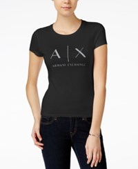 Armani Exchange T Shirt Solid Black