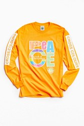 Cross Colours Peace Long Sleeve Tee Orange
