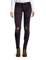 Dittos Jessica Tie Dyed Jeggings Purple