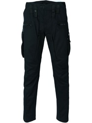 Marcelo Burlon County Of Milan Tapered Combat Trousers Black