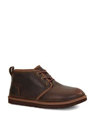 Neumel Leather And Uggpure Lined Slip On Shoes Brown