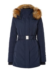 Linea Causeway Padded Coat Navy