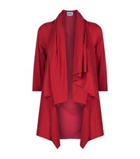 Armani Collezioni Waterfall Collar Cardigan Female Red