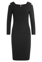 Roland Mouret Tailored Dress With Cut Outs Black