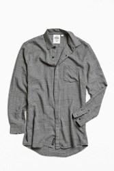 Cheap Monday Checked Flannel Long Button Down Shirt Black