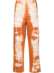 Maison Martin Margiela Mm6 Maison Margiela Tie Dye Print Jeans Yellow And Orange
