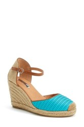 Halogen 'Sandra' Wedge Espadrille Women Blue