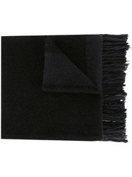 Ami Alexandre Mattiussi Striped Knitted Scarf Black